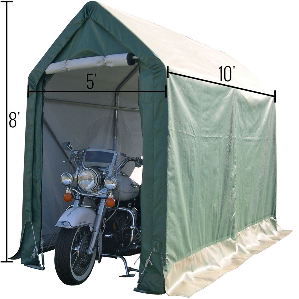 Car Ramps For Sale >> Rhino Shelter Cycle Cabana Weather Resistant Instant Motorcycle Shed | Discount Ramps