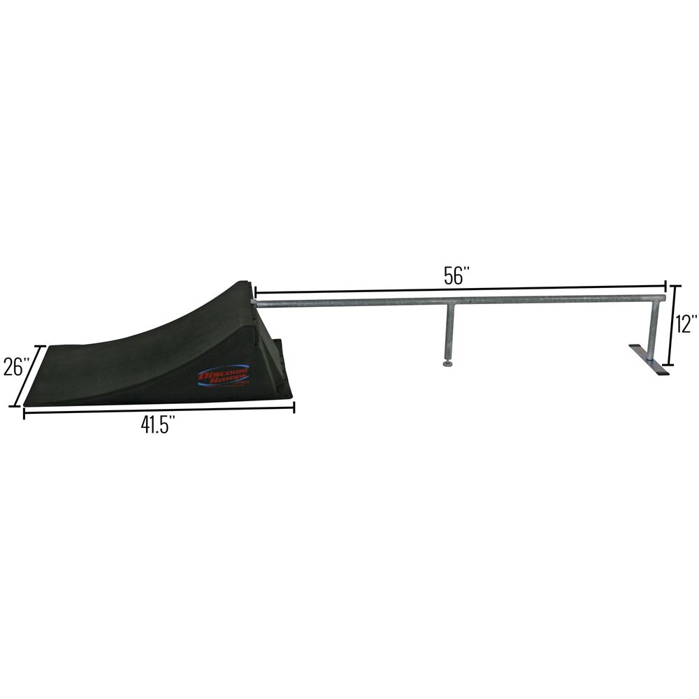 SK-904 12 High Skateboard Launch Ramp  Rail Kit 5