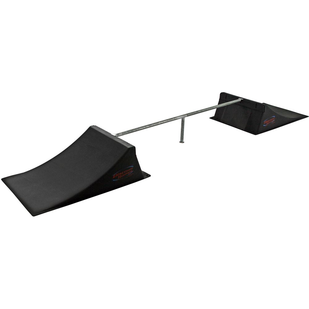 SK-906 12 High Double Skateboard Launch Ramp With Center Grind Rail