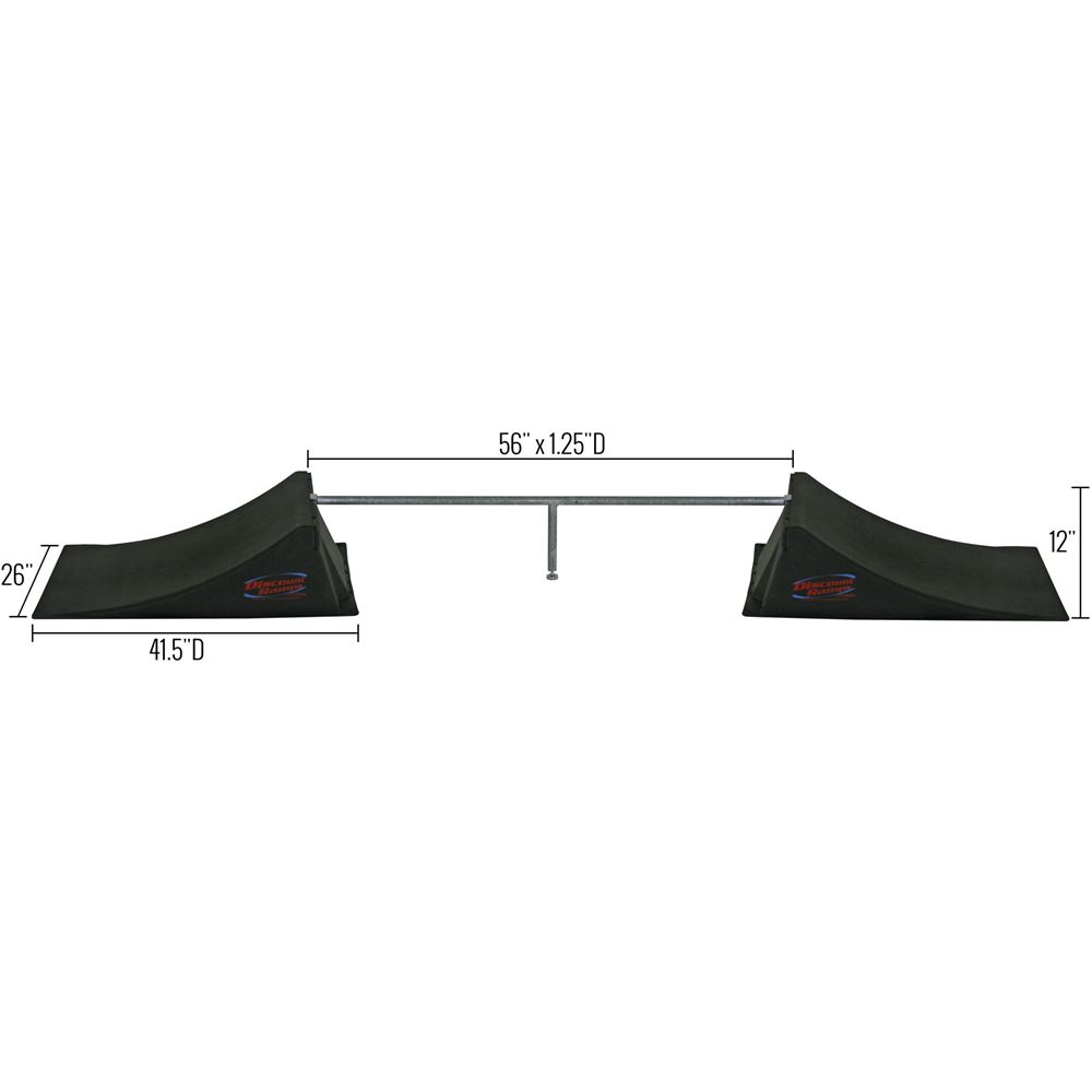 SK-906 12 High Double Skateboard Launch Ramp With Center Grind Rail 5