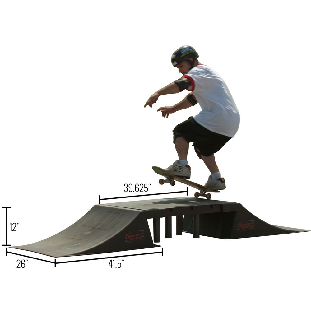 SK-907 12 High Half Fly Box Double Launch Skateboard Ramp Kit 4