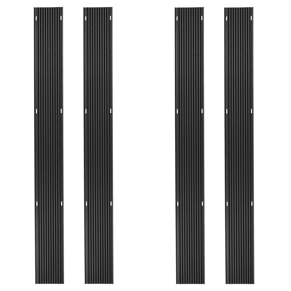 SKI-G60-4 5 L Black Ice Snowmobile Ski Carbide Glide Protector Guides - 4 pack