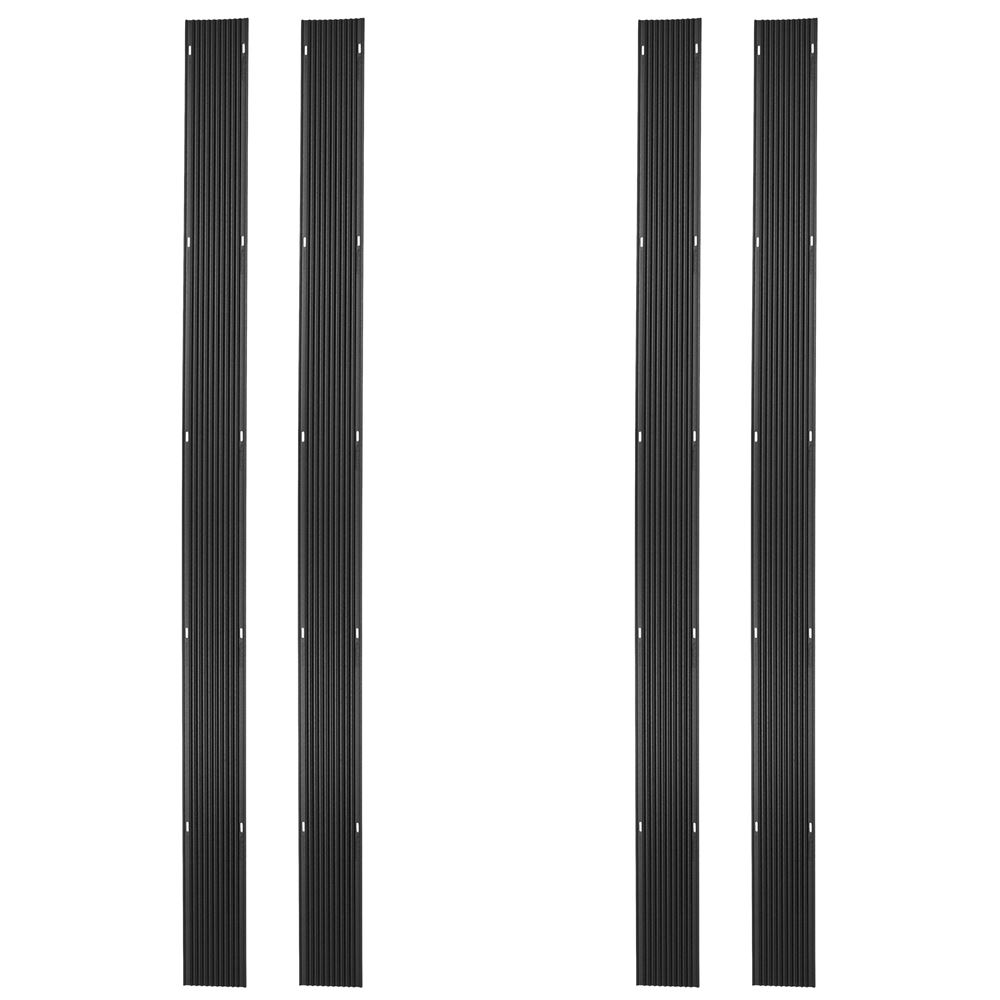 SKI-G96-4 8 L Black Ice Snowmobile Ski Carbide Glide Protector Guides - 4 pack