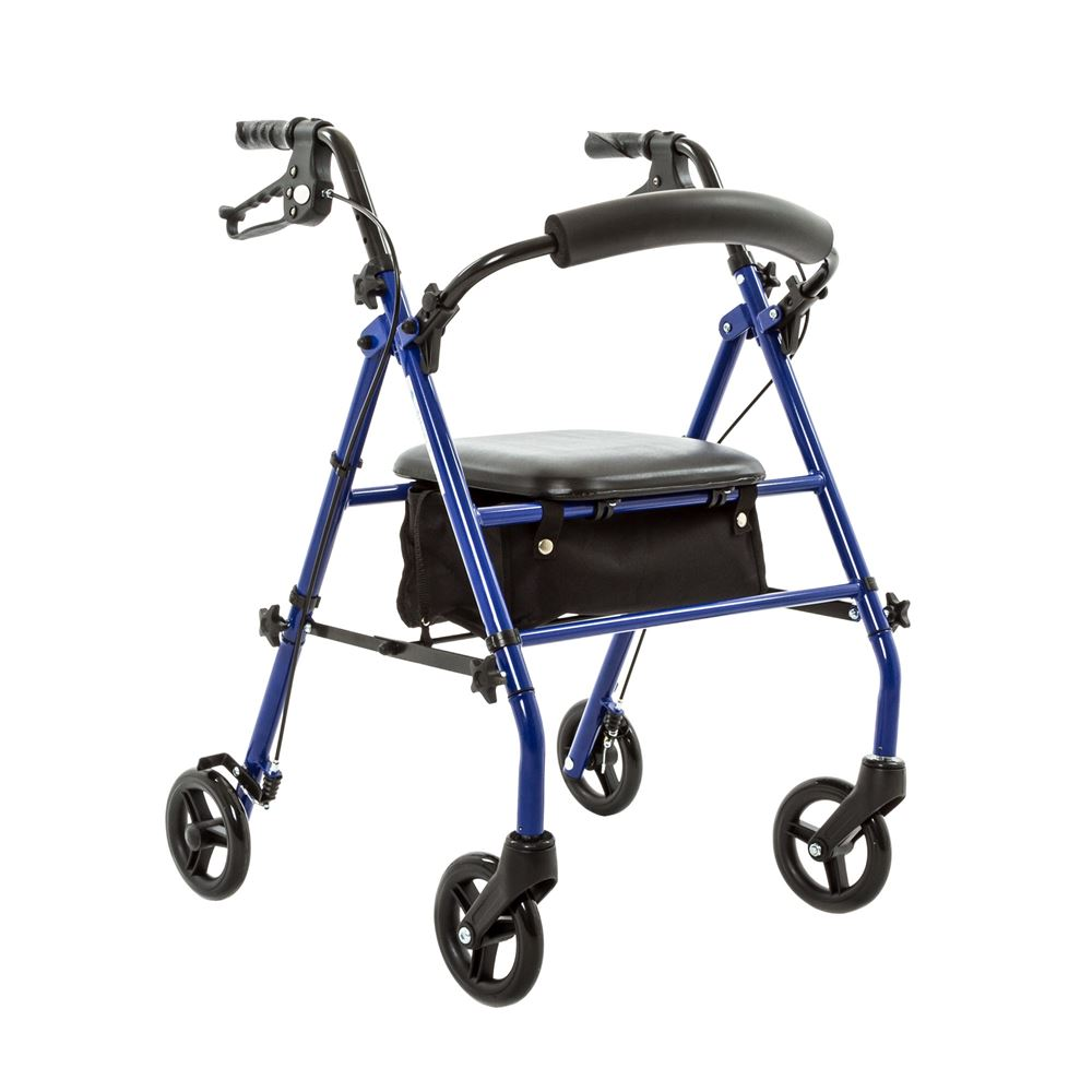 Silver Spring Steel Rollator with 6\