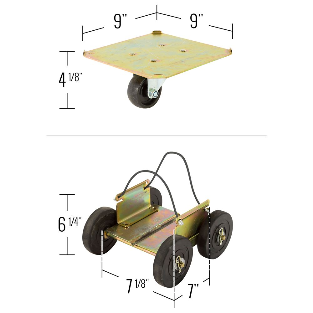 SMDOLLY Black Ice Drivable Snowmobile Dolly 6