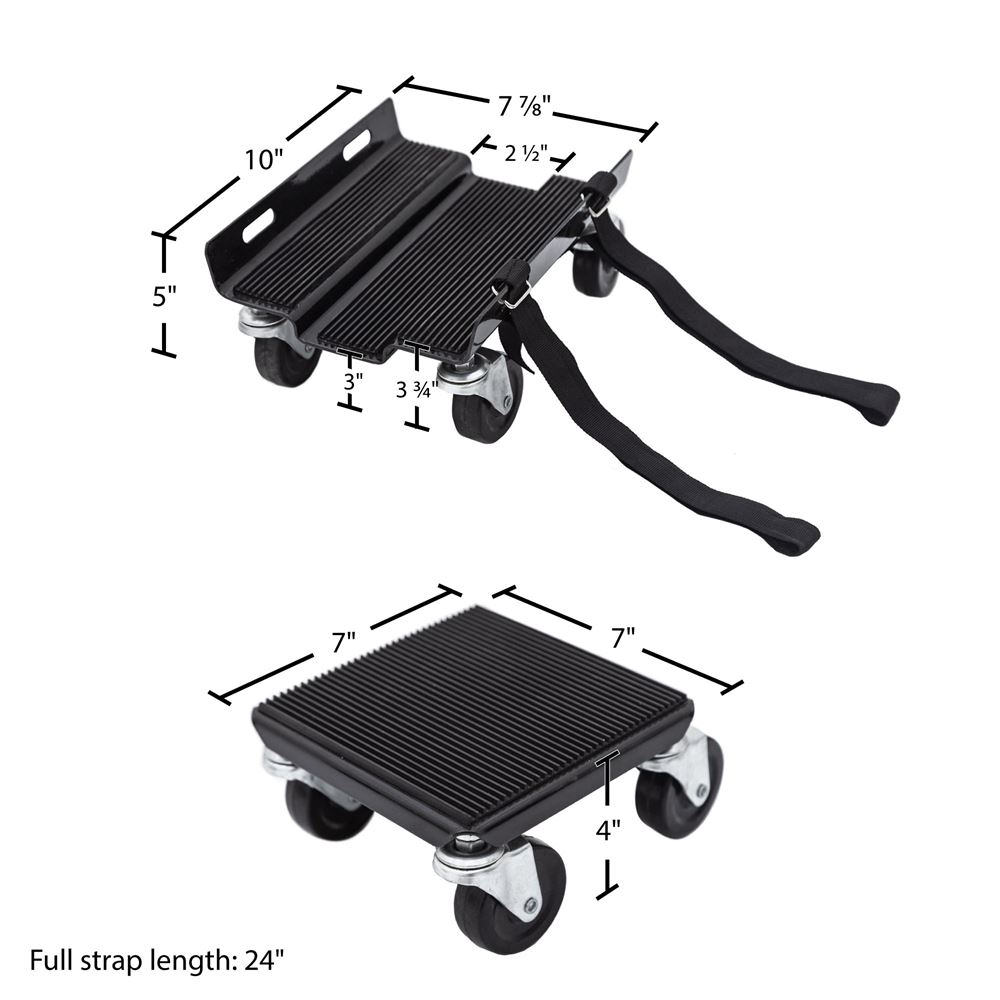 SNO-1503 Black Ice Snowmobile Dolly Set 2