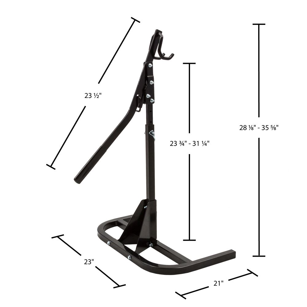 SNO-1512 Black Ice Heavy-Duty Snowmobile Track Stand and Lift 1