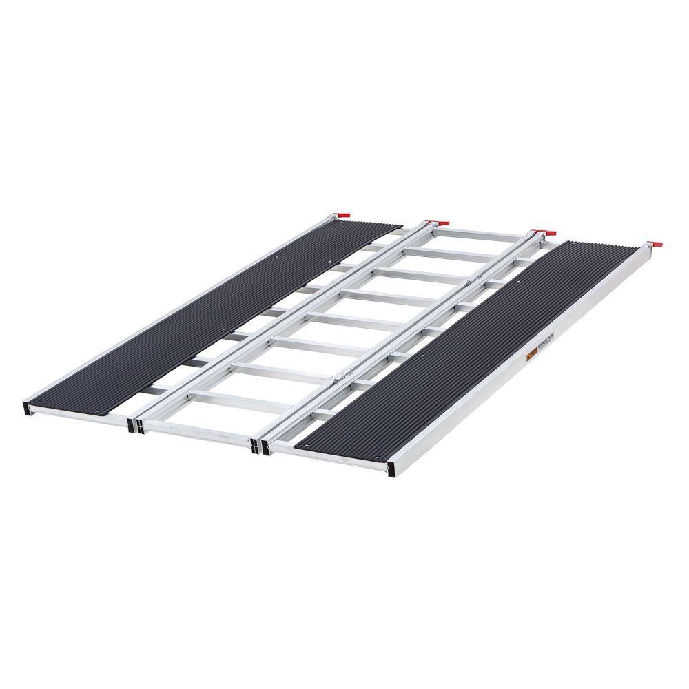 SNO-7754-HDXW Ramp Only - Black Ice Tri-Fold Snowmobile  ATV Ramp  6 5 L x 54 W