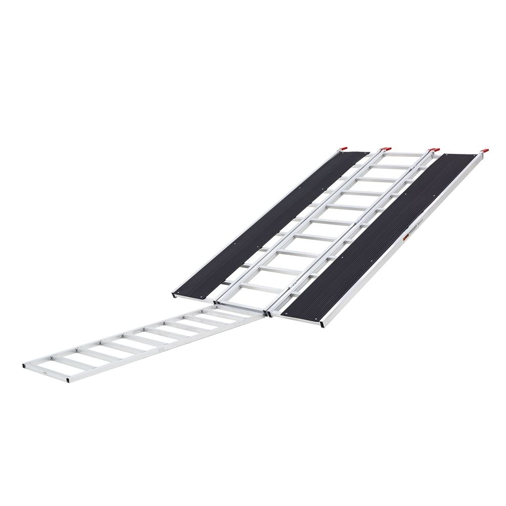 SNO-9454-HDXW-EXT Ramp and Extension - Black Ice Tri-Fold Snowmobile and ATV Ramp - 7 10 Long x 54 Wide