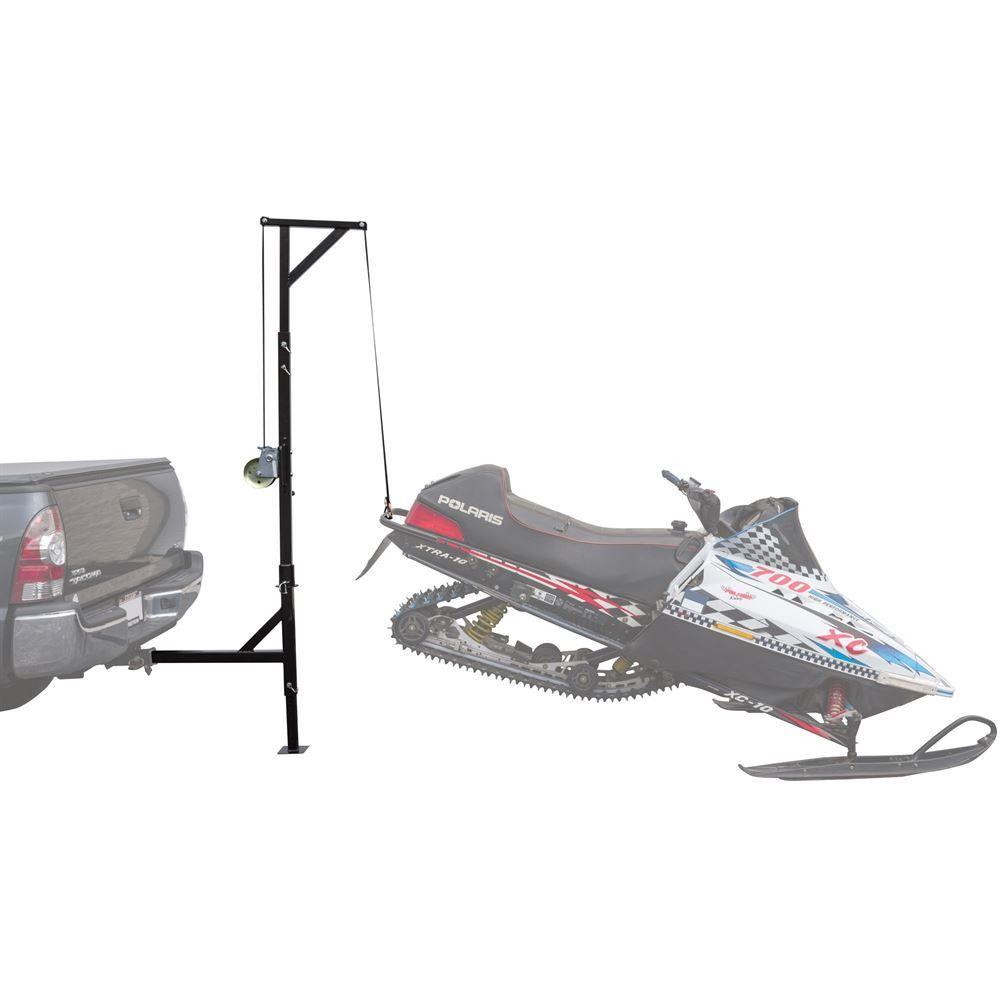 SNO-HOIST-SWIVEL Black Ice Hitch-Mounted Snowmobile Swivel Hoist - 500 lbs Capacity