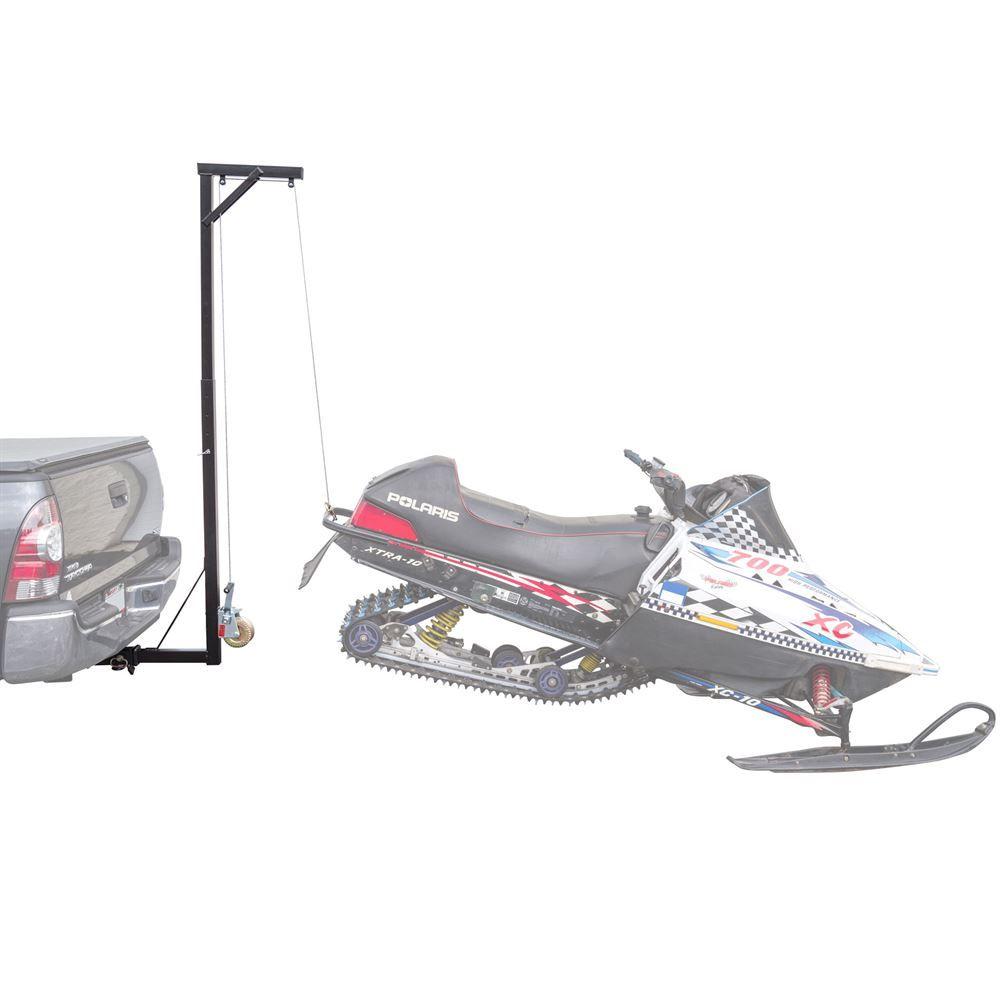 SNO-HOIST Black Ice Hitch-Mounted Snowmobile Hoist - 300 lbs Capacity