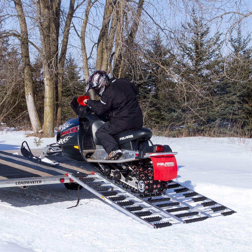 Aluminum Atv Ramps >> Black Ice Aluminum ATV and Snowmobile Tri-Fold Trailer ...