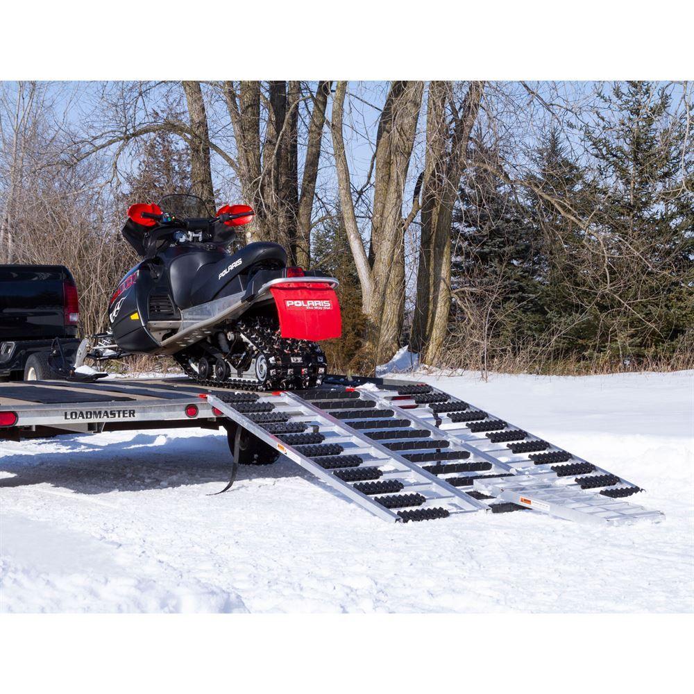 Low Car Ramps >> Black Ice Aluminum ATV and Snowmobile Tri-Fold Trailer Ramp | Discount Ramps