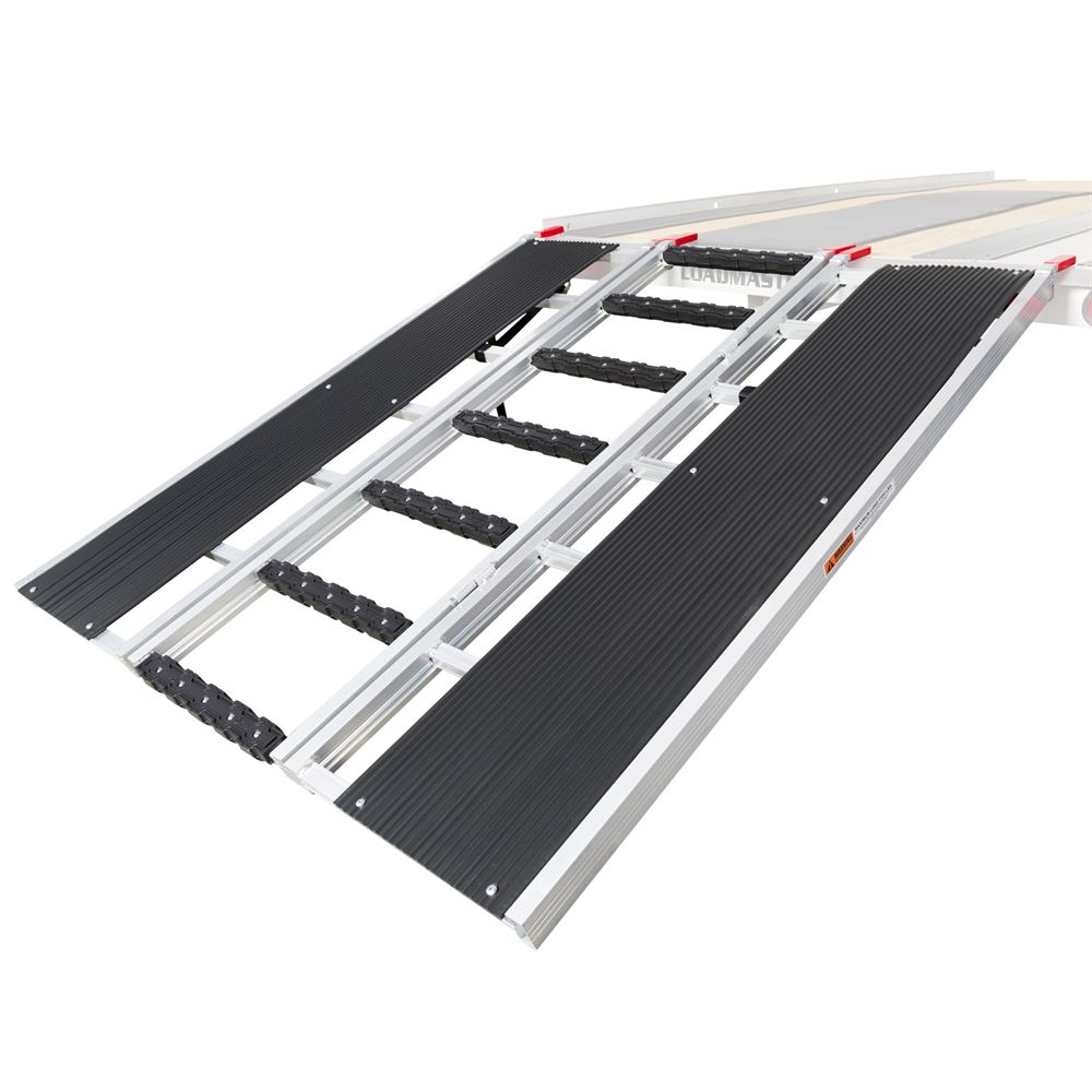 SNO-TRI-FOLD-T Black Ice Tri-Fold Snowmobile and ATV Trailer Ramp - 5 Long x 54 Wide