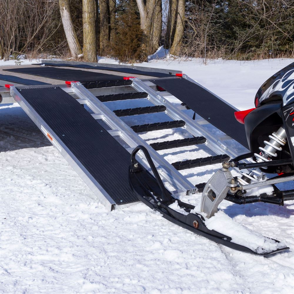 SNO-TRI-FOLD-T Black Ice Tri-Fold Snowmobile Trailer Ramps - 1500 lb Capacity 60 Long 4