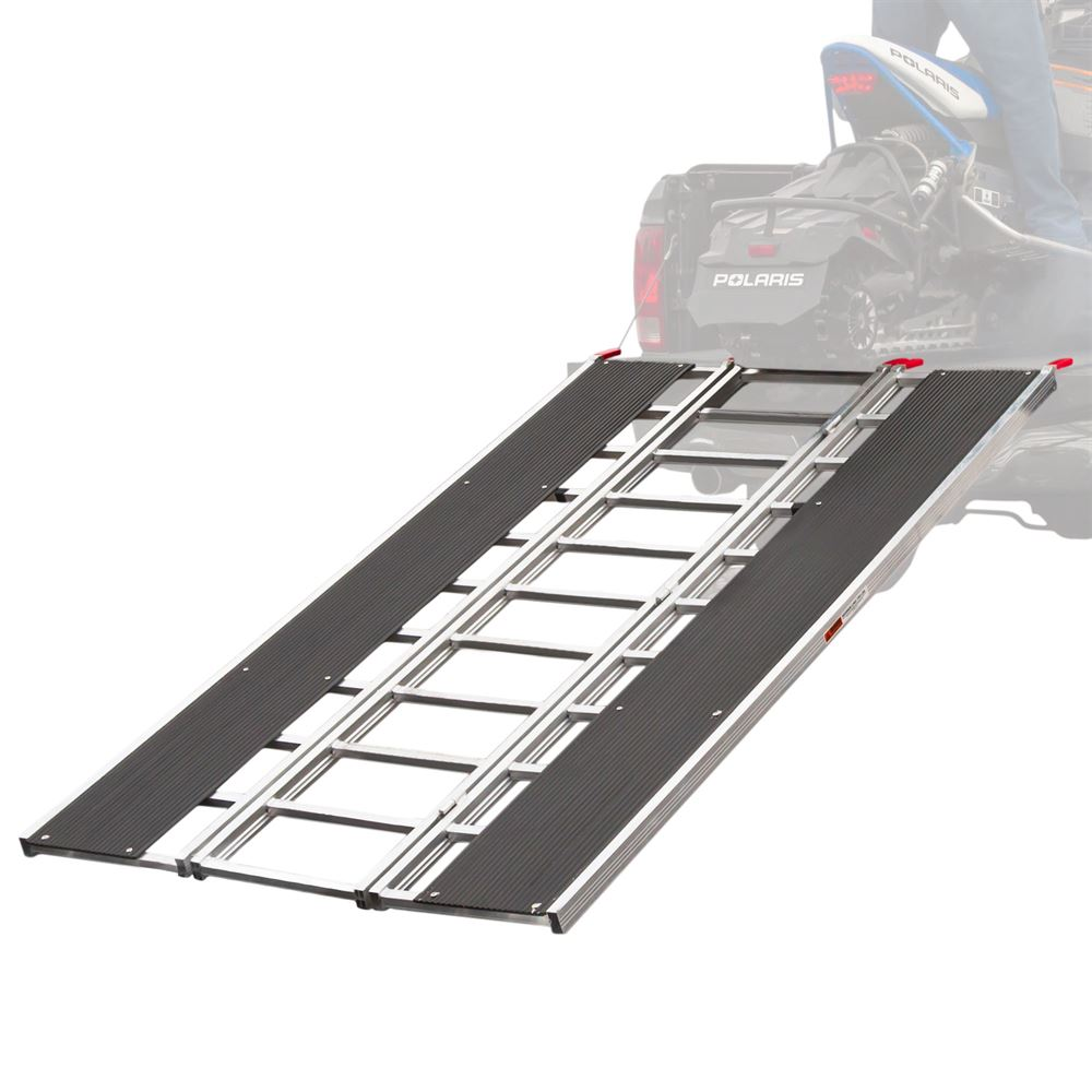 SNO-TRI-FOLD Black Ice Tri-Fold Snowmobile and ATV Ramp - 7 10 Long x 54 Wide