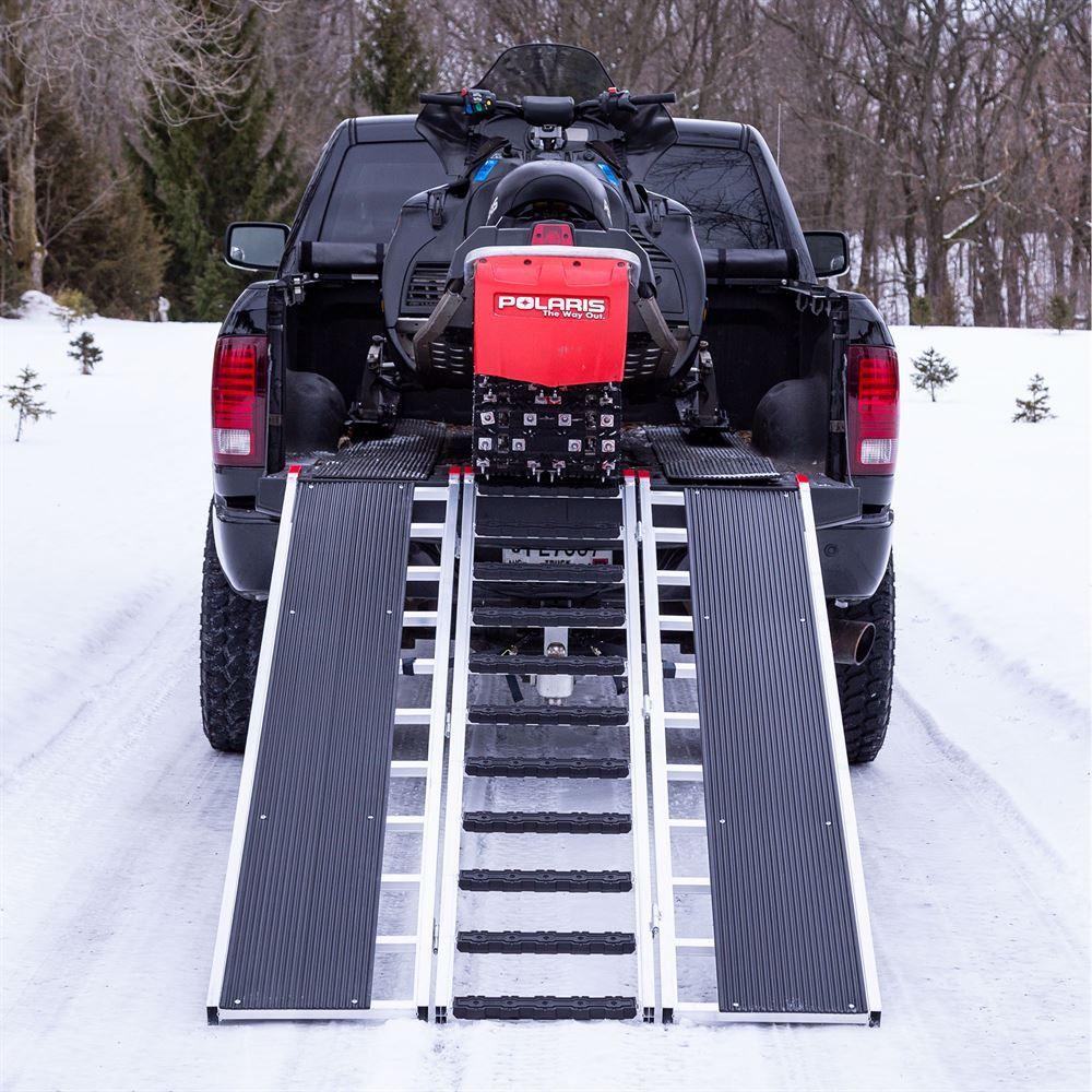 SNO-TRI-FOLD 7 10 L x 54 W Black Ice Tri-Fold Snowmobile Ramps - 1500 lb Capacity 2