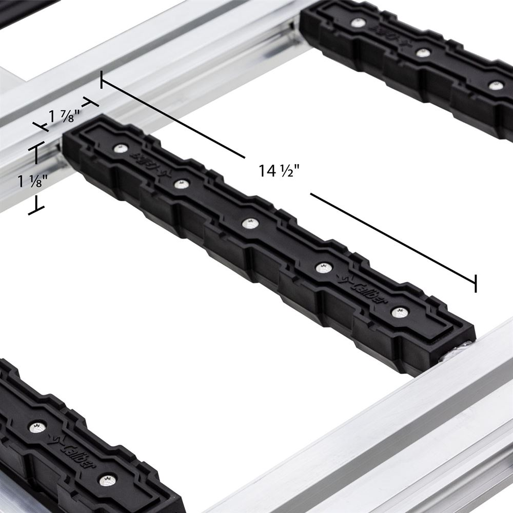 SNO-TRI-FOLD 7 10 L x 54 W Black Ice Tri-Fold Snowmobile Ramps - 1500 lb Capacity 5