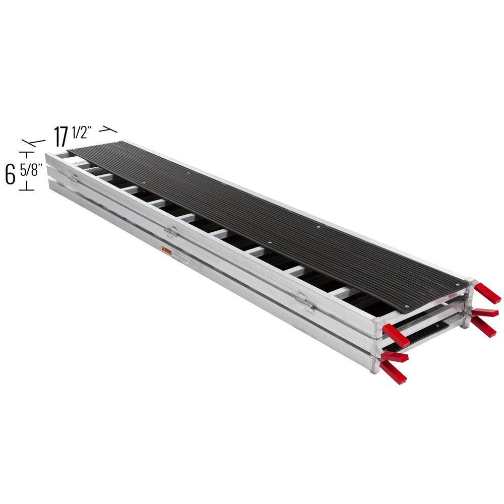 SNO-TRI-FOLD 7 10 L x 54 W Black Ice Tri-Fold Snowmobile Ramps - 1500 lb Capacity 6