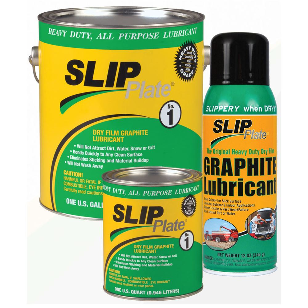 SP-33015 4 1 gallon cans of SLIP Plate No 1  Dry Graphite Lubricant