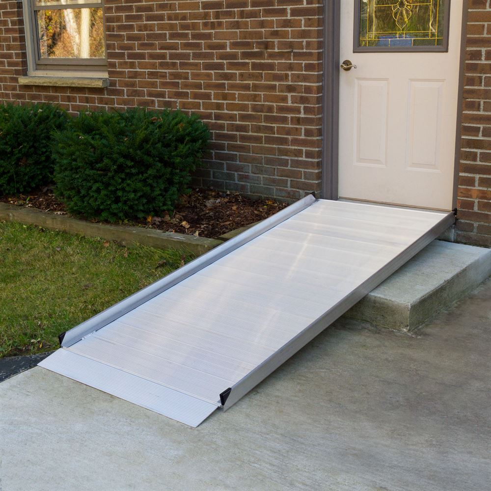 7 39 l silver spring aluminum wheelchair access ramp for Handicap accessible mobile homes for sale
