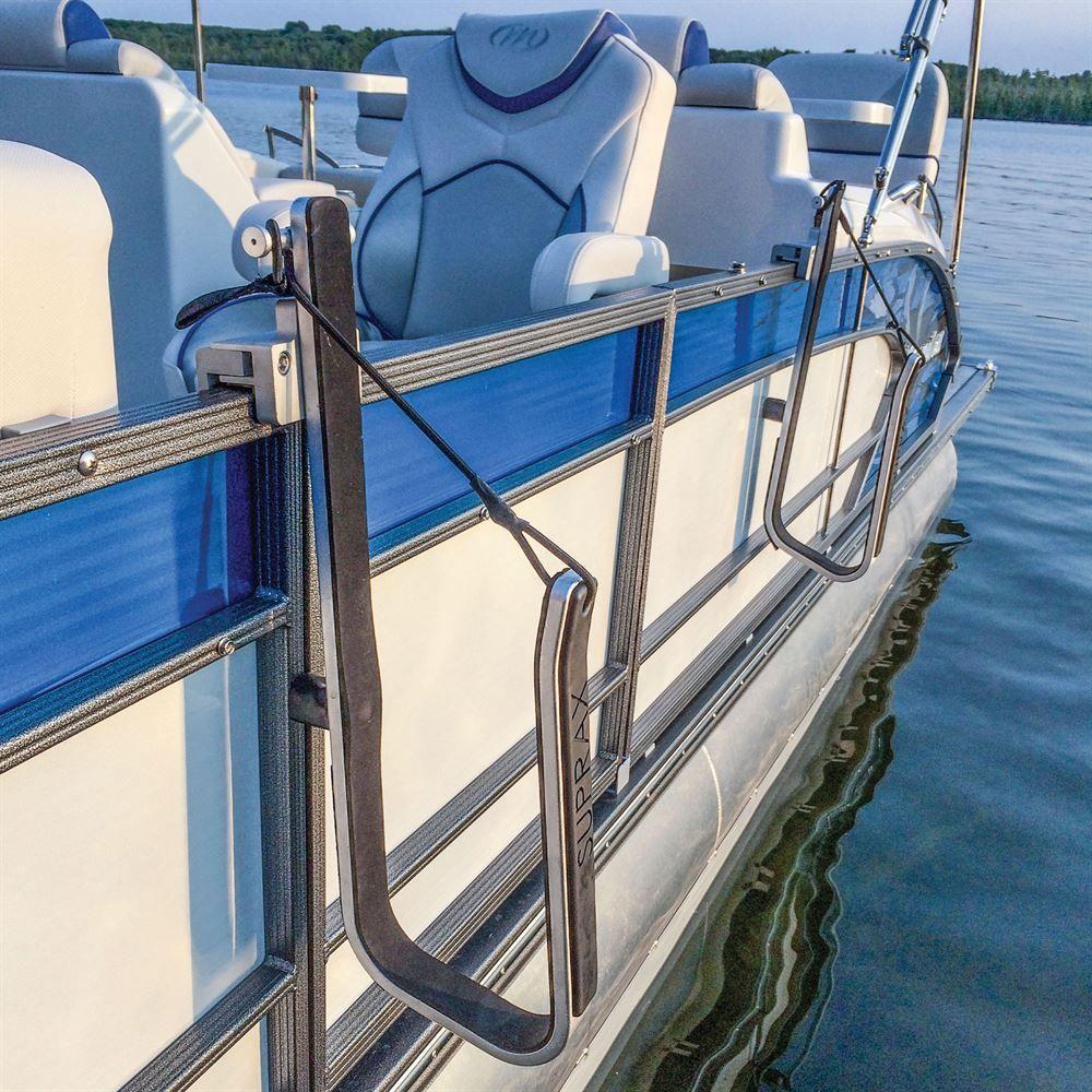 Aluminum Boat Racks : Surfstow suprax pontoon boat sup rack discount ramps