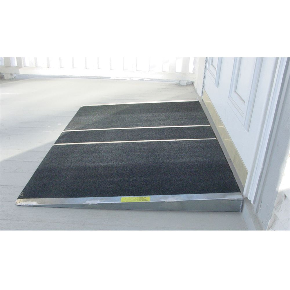 SSTH2436-3 24 L x 36 W PVI Aluminum Solid Self-Supporting Threshold Ramp