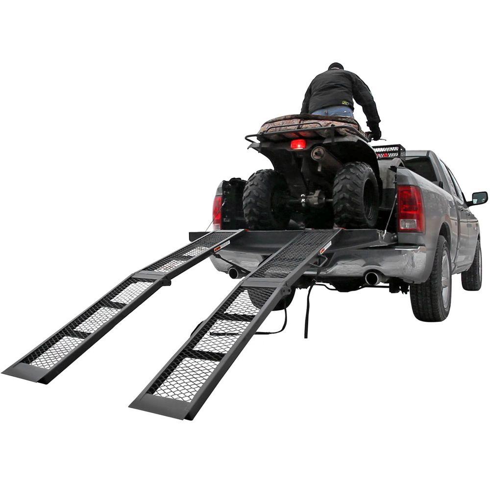 ST-AF-12-2 Black Widow Steel Arched Dual Runner Folding ATV Ramps