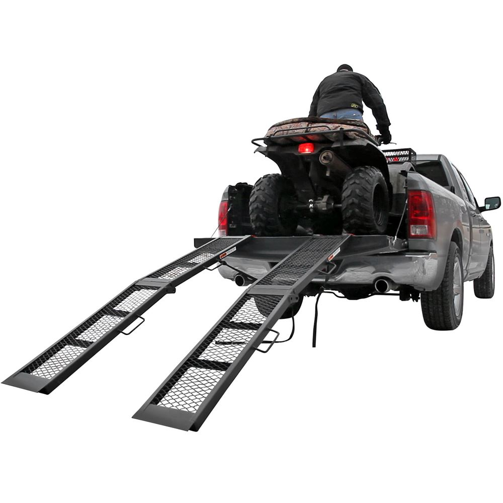 ST-AF-8012-2 6 8 L x 11 W Black Widow Steel Arched Dual Runner Folding ATV Ramps