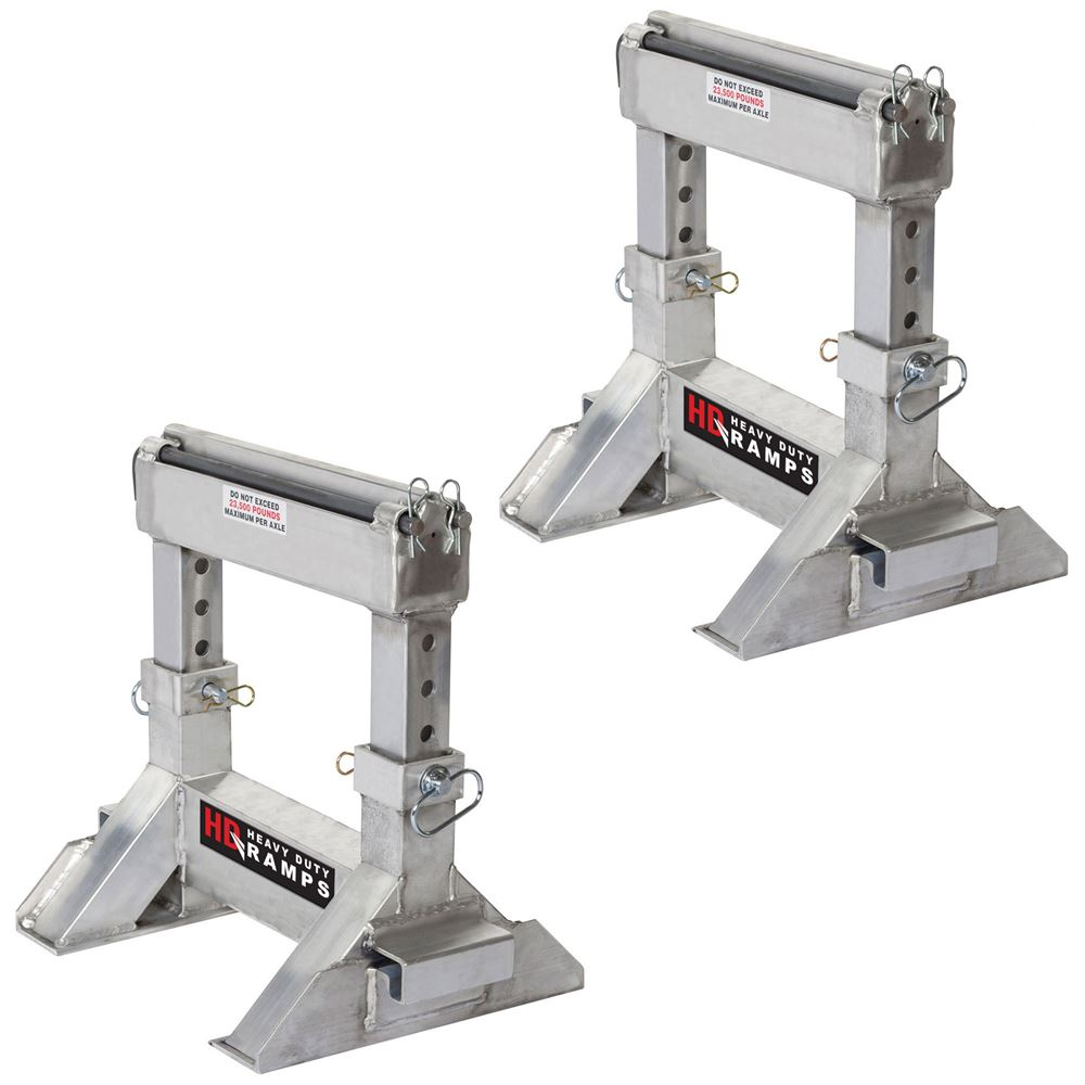 STAND-10-16-18-24-H Pair of Adjustable Heavy-Duty Lower Ramp Support Stands