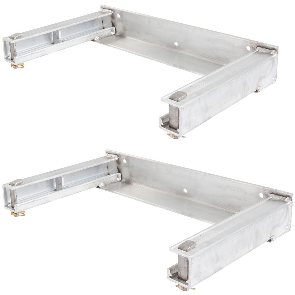 STAND-HANGERS-FRONT Bolt-On Semi-Trailer Ramp Stand Storage Brackets