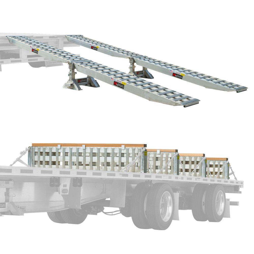STEP-DECK-LL-KIT-18-235K 23500 lb Step Deck Trailer Load Levelers and Ramp Kit for 18 H Step Decks