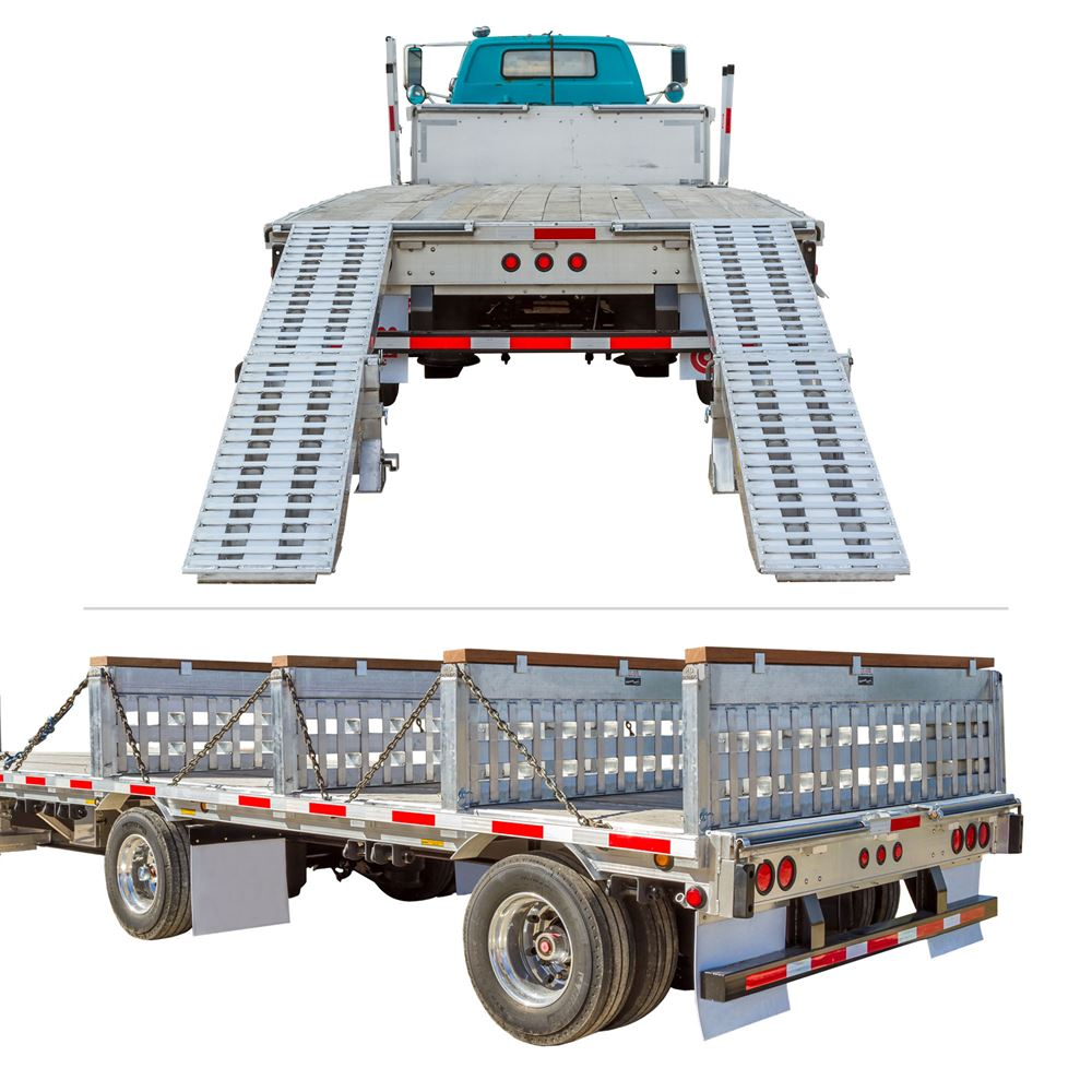 STEP-DECK-LL-KIT-24-235K 23500 lb Step Deck Trailer Load Levelers and Ramp Kit for 24 H Step Decks