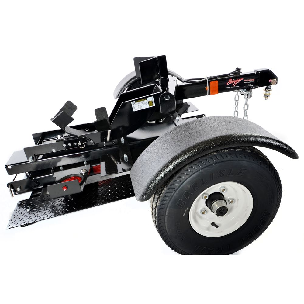 Wheel To Wheel Running Boards >> Stinger Folding Motorcycle Trailer | Discount Ramps