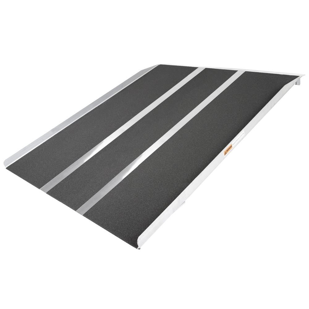STR-436 4 L x 36 W Silver Spring Aluminum Solid Threshold Ramp