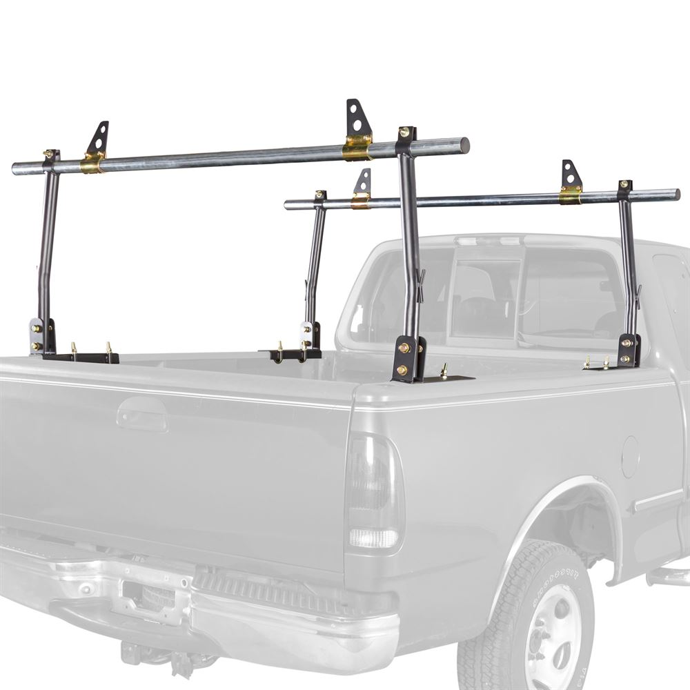 Apex No-Drill Steel Truck Rack with Ladder Stops