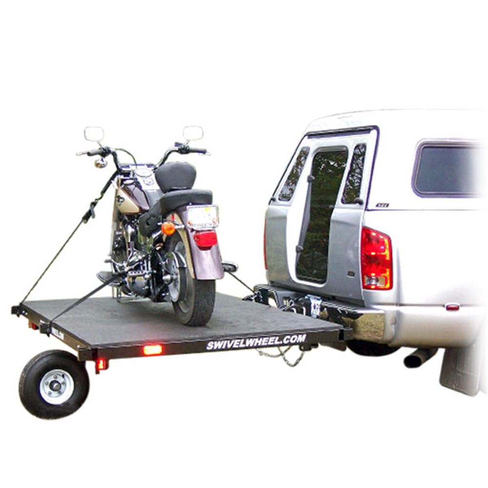 SW-58 Swivelwheel Single Wheel Motorcycle Trailer - 1000 lbs Capacity