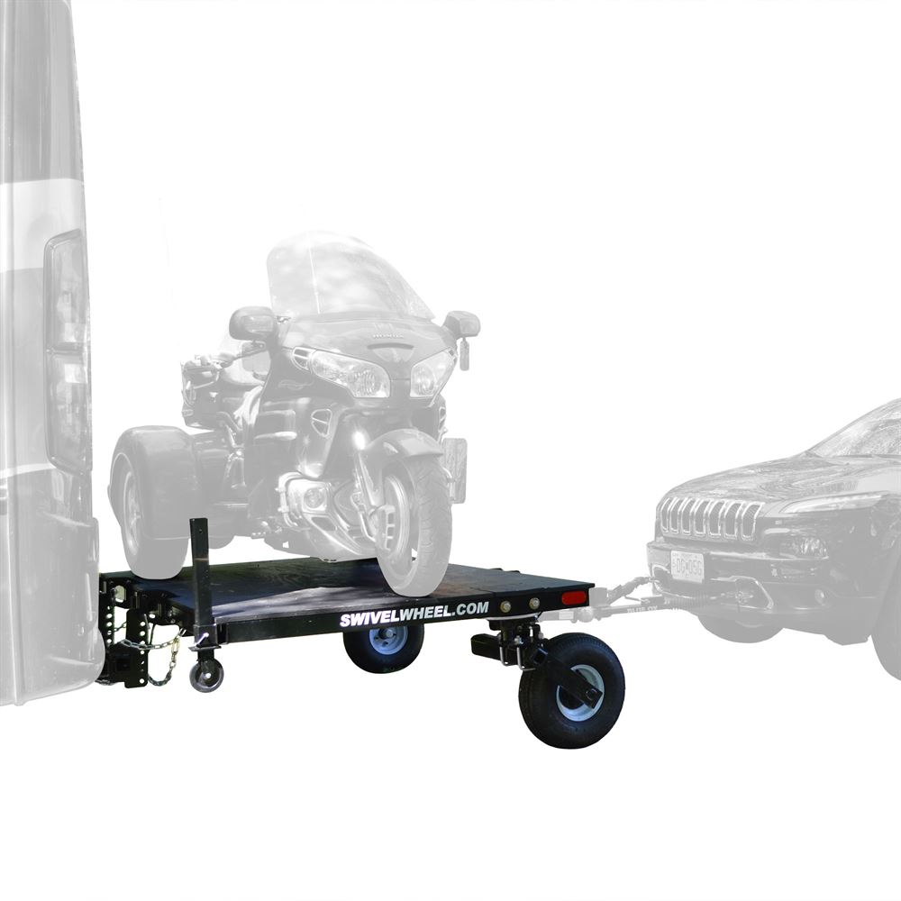 SW-58DW-Tandem-Tow Swivelwheel Dual Wheel RV Fifth Wheel Carrier with Tow Package  8 W x 5 L