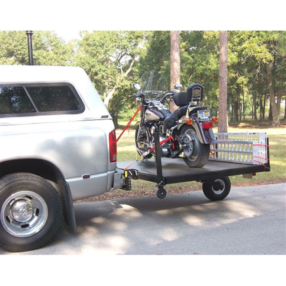 SW-58 Swivelwheel Single Wheel Motorcycle Trailer - 1000 lbs Capacity 3