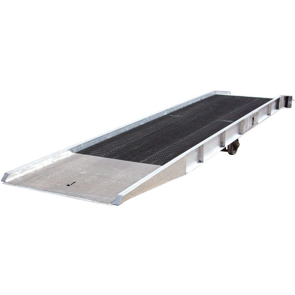 SY-169330 30 L x 95 W - 16000 lb Capacity Vestil Aluminum Yard Ramp with Steel Grating