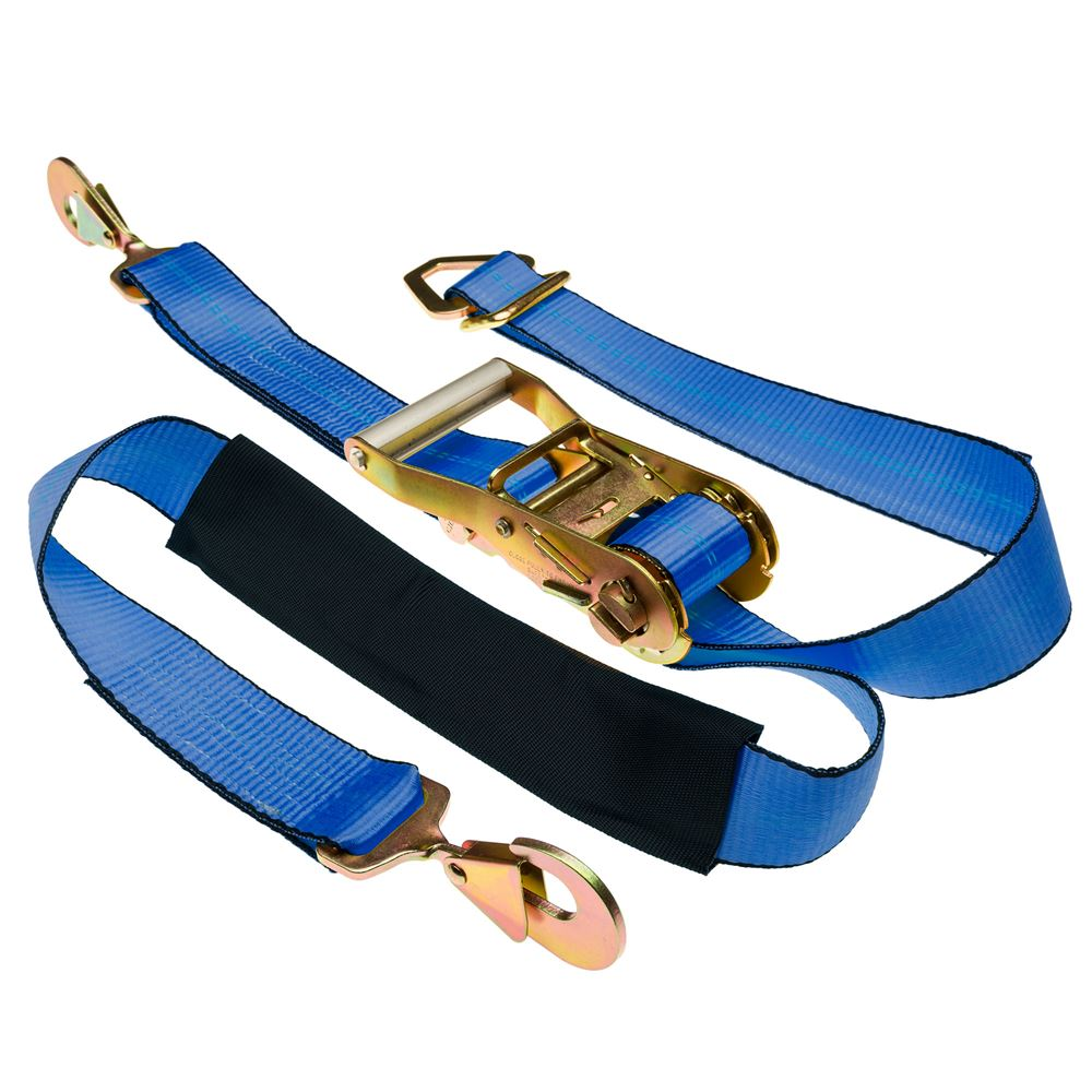 Strap-2Axle 2 x 8 Ratchet Axle Strap with Snap Hooks