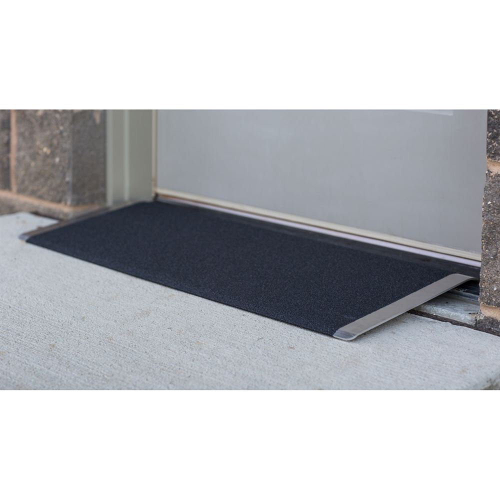 TAEP-8 8 L x 32 W EZ-ACCESS TRANSITIONS Aluminum Angled Entry Threshold Ramp