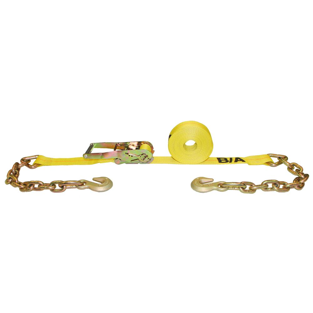 TD2-27CG Single BA Products 2 x 27 Ratchet Tie-Down Strap with Chains and Grab Hooks