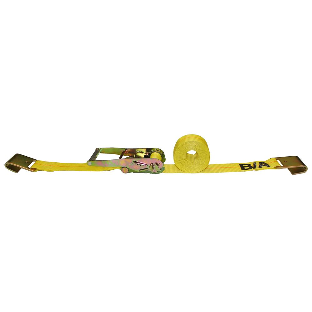 TD2-27FF Single BA Products 2 x 27 Ratchet Tie-Down Strap with Flat Hooks
