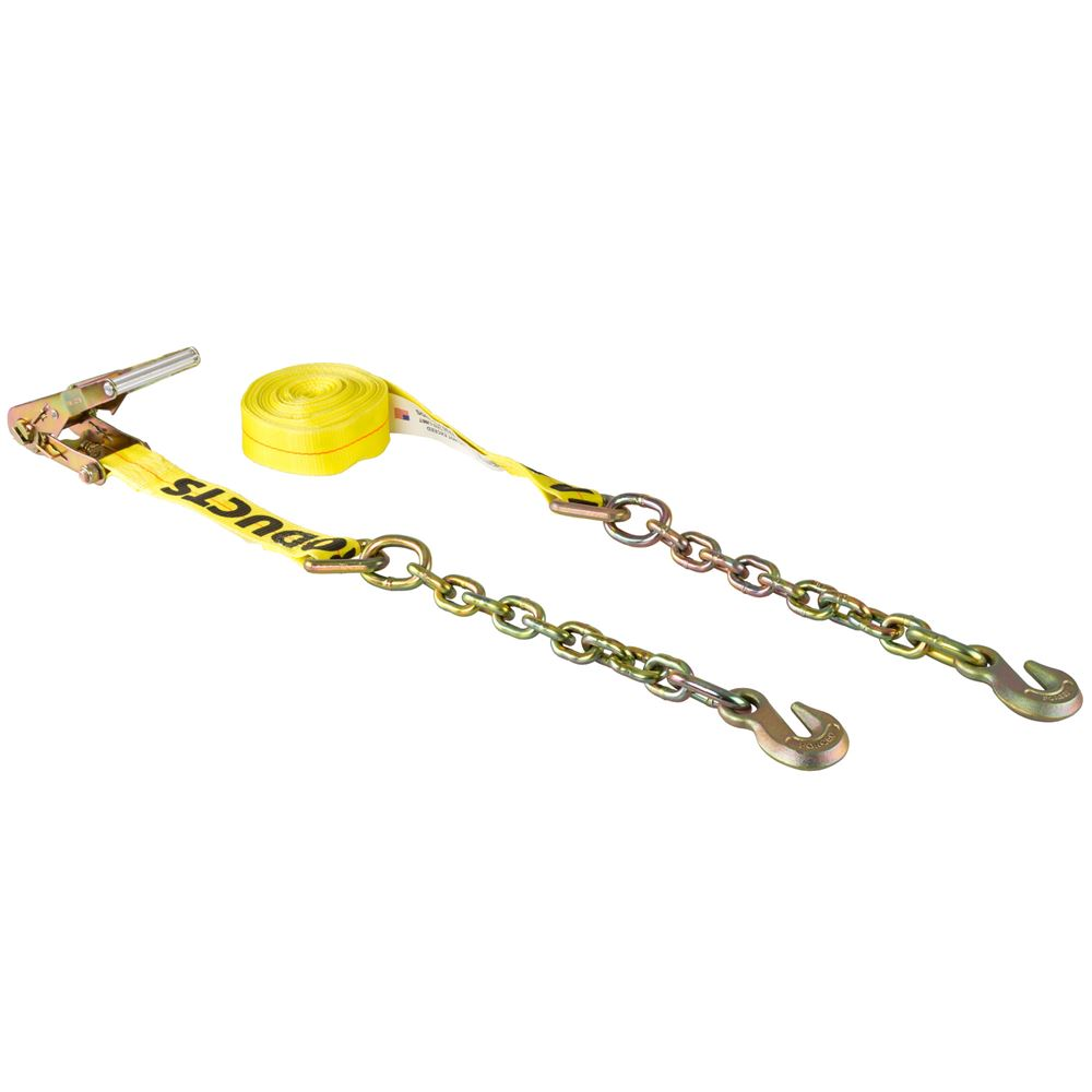 TD4-27CG 27 L x 4 W - BA Products Ratchet Tie-Down Strap with Chains and Grab Hooks