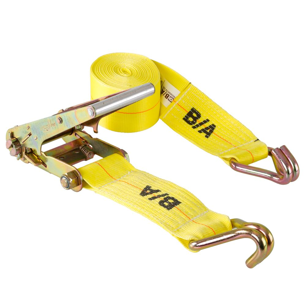 TD4-DJ BA Products 4 x 27 Ratchet Tie-Down Strap with Double J Hooks