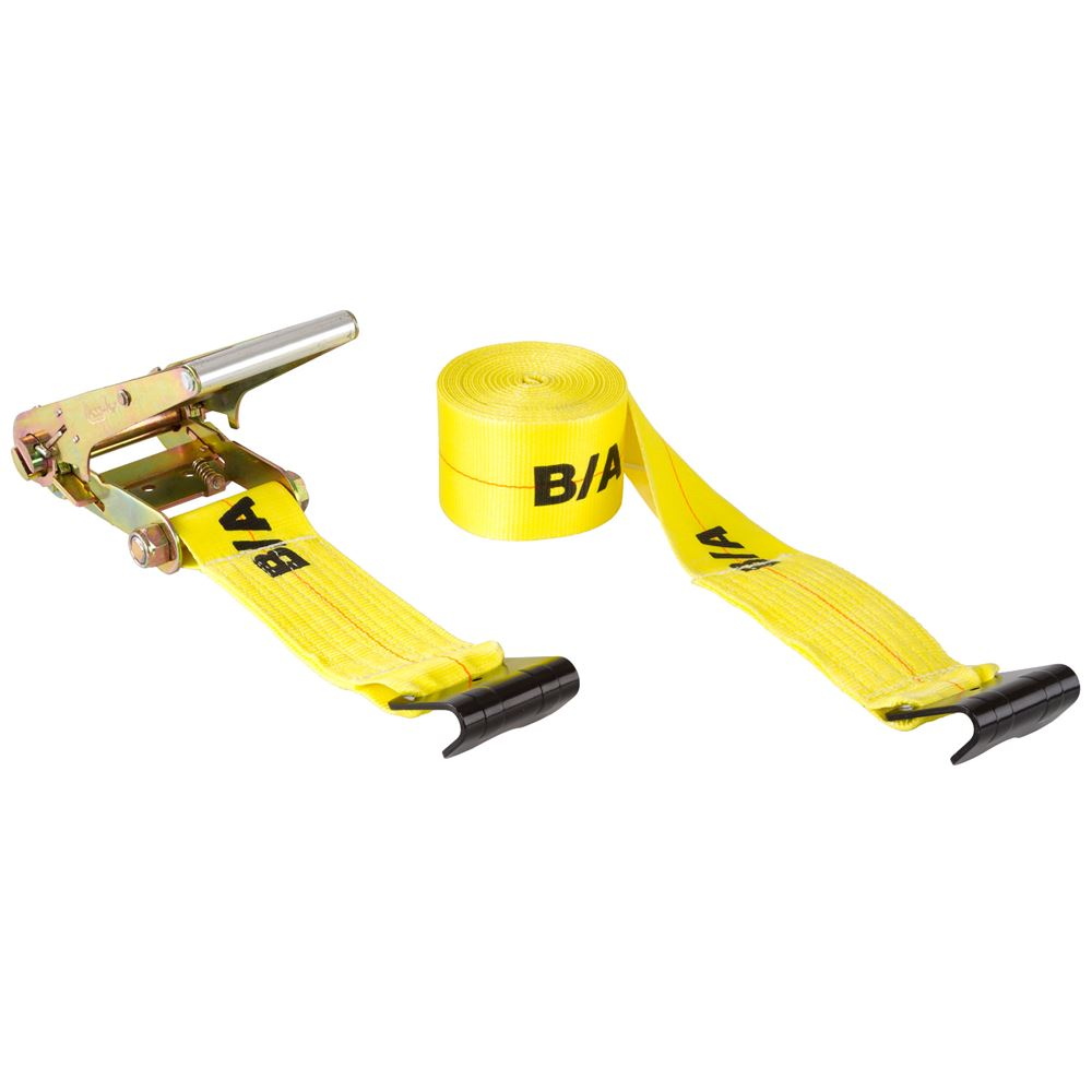TD4-FF BA Products 4 x 17 Ratchet Tie-Down Strap with Flat Hooks