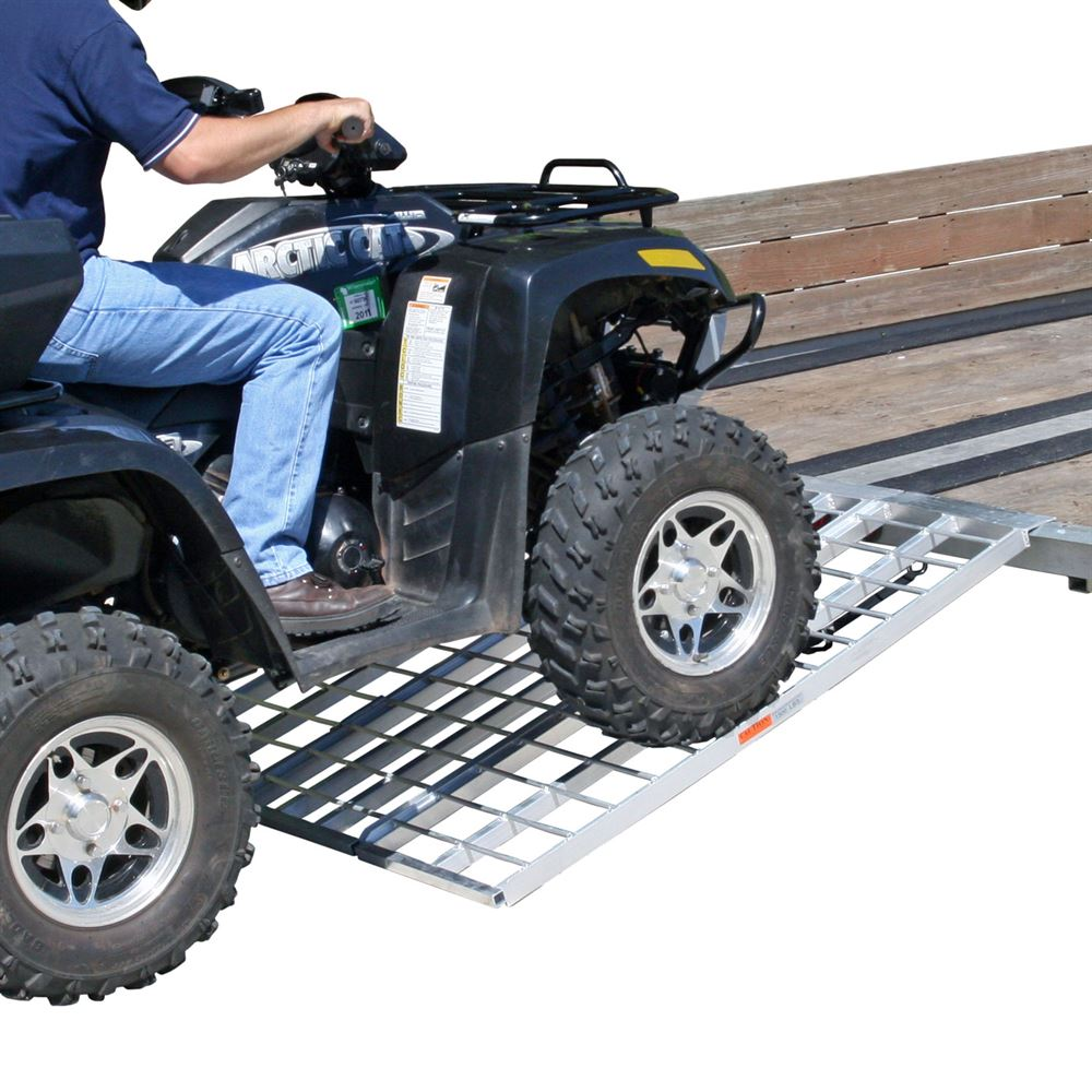 TF-6050-1500A-ATV Black Widow Aluminum Tri-Fold ATV Trailer Ramp