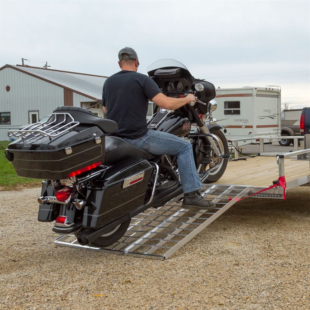 TF-6050-1500A Black Widow Aluminum Folding Motorcycle Trailer Ramp 1