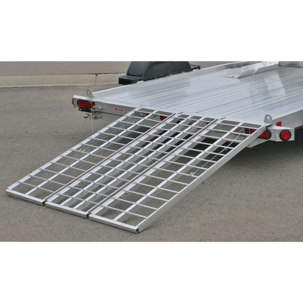 TF-6050-1500A Black Widow Aluminum Folding Motorcycle Trailer Ramp 2